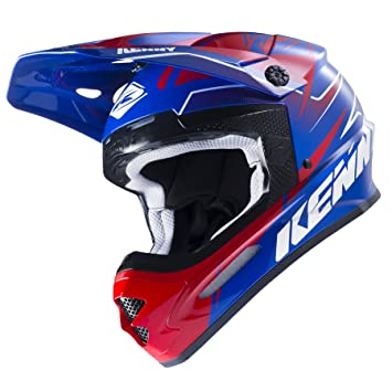 Casco Cross Kenny Track 2017 azul rojo
