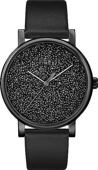 8fefae552 Timex Women's Crystal Opulence Classic Black Leather Strap Watch  (Model:TW2R95100GP): Amazon.ca: Watches