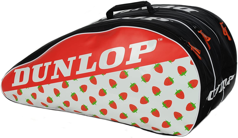 Dunlop Wimbledon Tennis Racket Bag with Strawberries Graphic