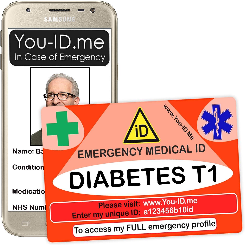 tarjeta de diabetes para billetera