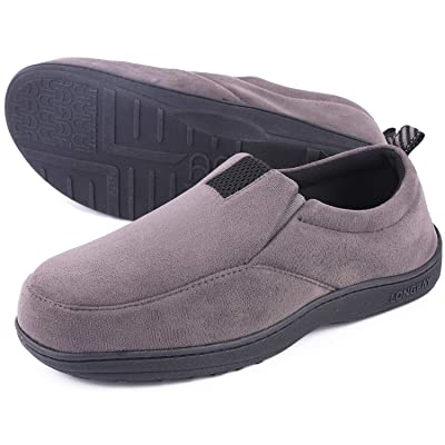 LongBay Men's Cozy Memory Foam Slippers Micro Suede Comfy Loafer House Shoes | Slippers