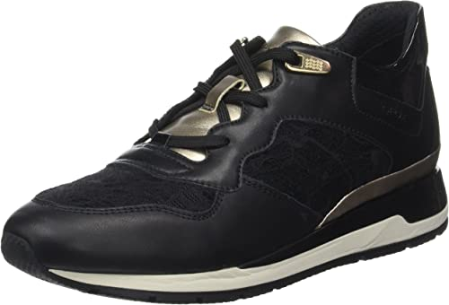Seminario Mayordomo bota  Geox Women's D Shahira B Sneaker, Black, 8 UK 42 EU: Amazon.co.uk: Shoes &  Bags