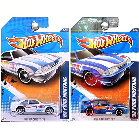 Fox Body Wheels >> Amazon Com Hot Wheels 2011 Hw Racing 1992 Ford Mustang Fox Body In