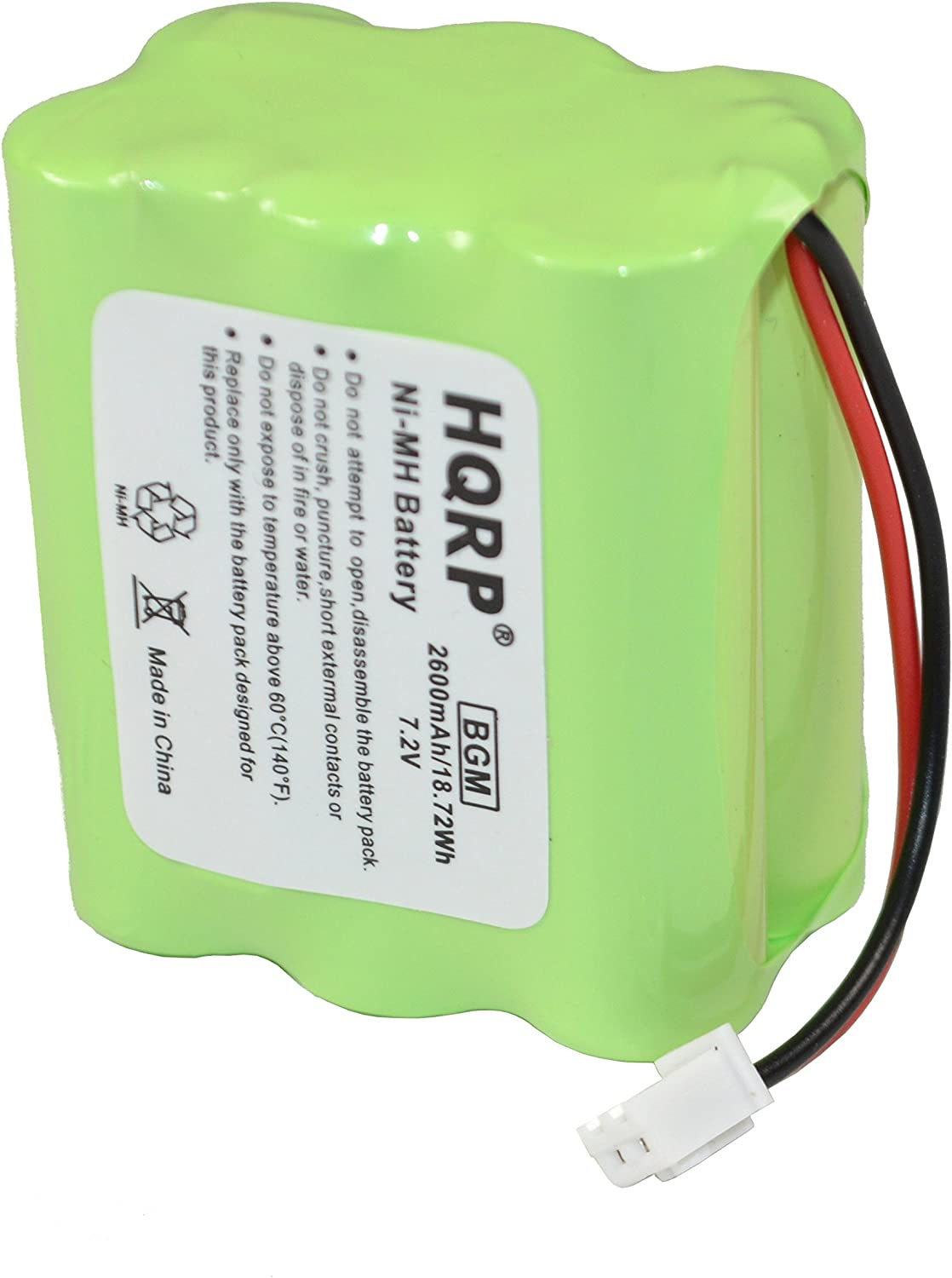 HQRP Backup Battery Compatible with 2gig BATT1X BATT2X BATT1 GC2 2GIG-CNTRL2 2GIG-CP2 GCKIT311 Go Control Panel Security System Alarm 6MR2600AAY4Z 10-000009-001