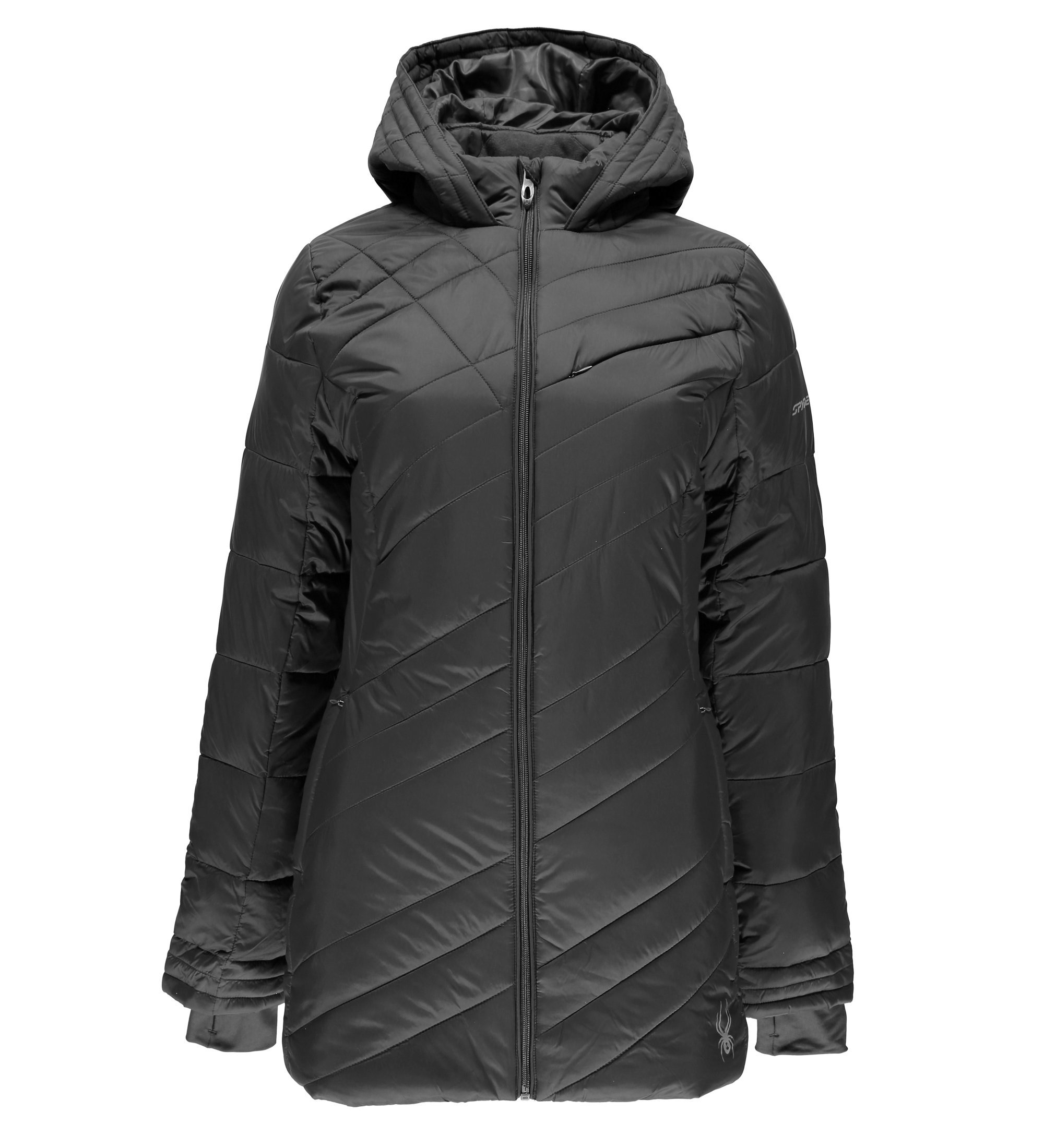 Spyder Women's Siren Long Jacket, Weld, Small by Spyder