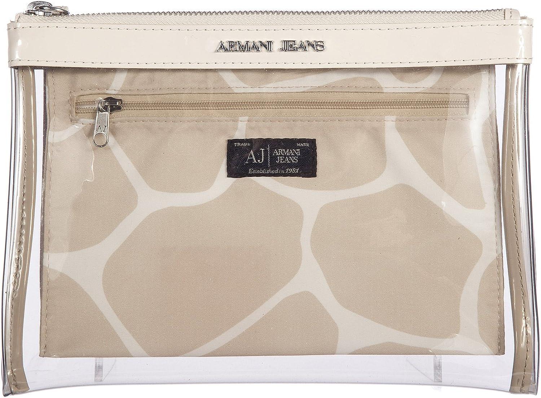 Armani Jeans neceser estuche de maquillaje mujer nuevo beige: Amazon.es: Zapatos y complementos