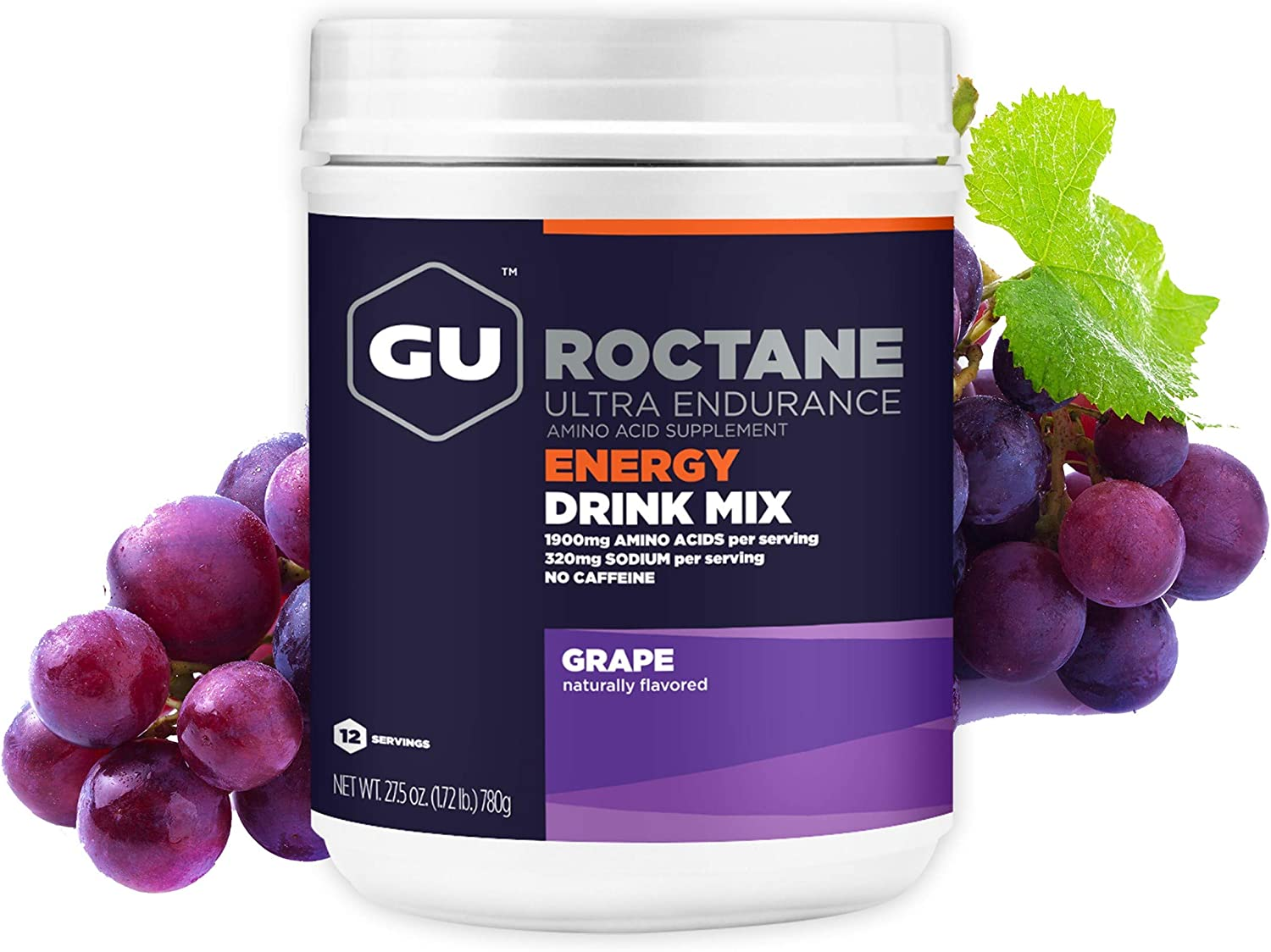 GU Energy Roctane Ultra Endurance Energy Drink Mix, 1.72-Pound Canister, Tropical Fruit: Health & Personal Care