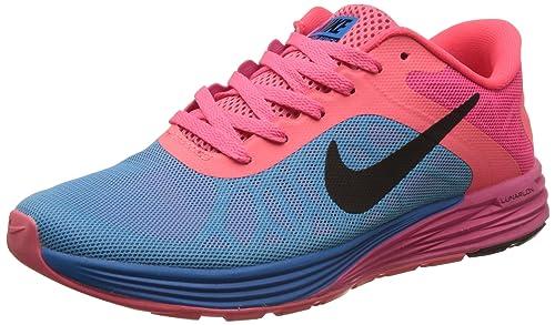 d3d7394f58537 Nike Men s Lunarglide 6 Black Pink Blue Running Shoes - 7 UK India ...