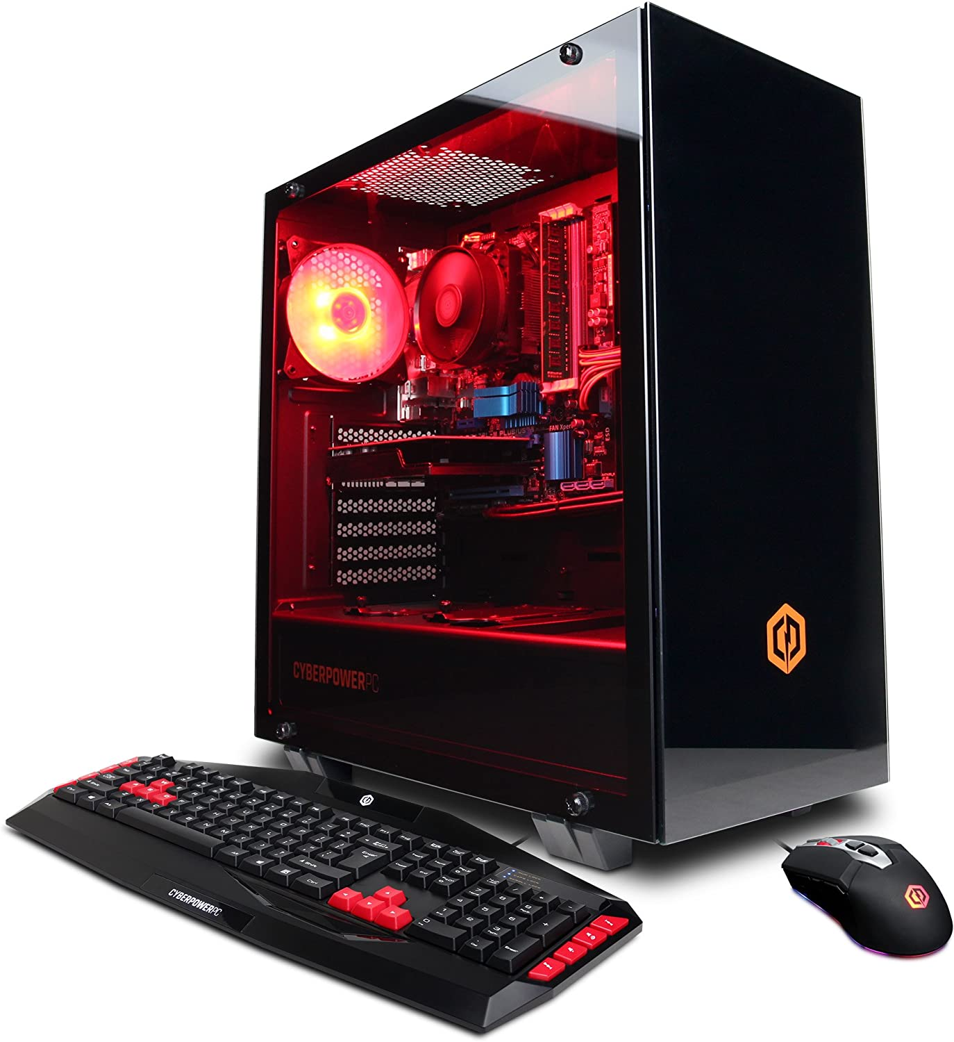 CyberpowerPC Gamer Ultra Gaming PC, AMD FX-6300 3.5GHz, AMD Radeon R7 240 2GB, 8GB DDR3, 1TB HDD, WiFi Ready & Win 10 Home (GUA884, Black)