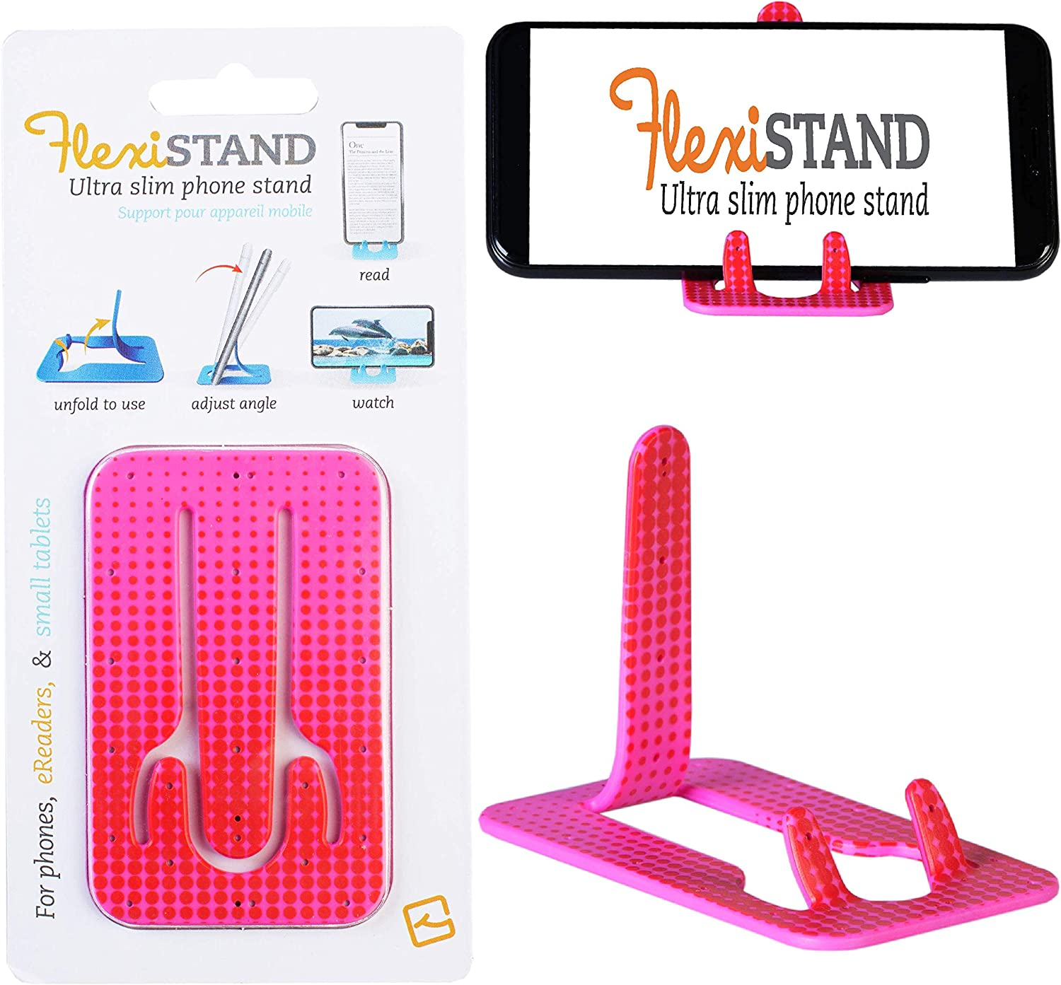 Gifts for Readers /& Writers FlexiStand Mobile Phone Desk Stand Travel Portable Smart Phone Holder Flamingo