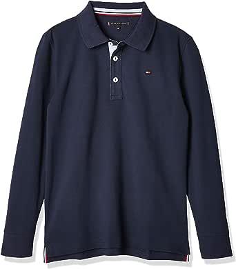 Tommy Hilfiger Flag Colorblock Polo L/S Camisa para Niños