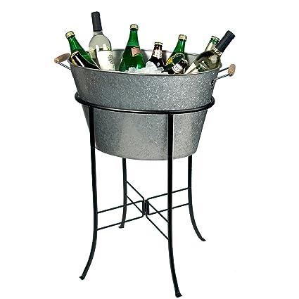 New Amazon.com: Artland Masonware Party Tub with Stand, Galvanized  IE54
