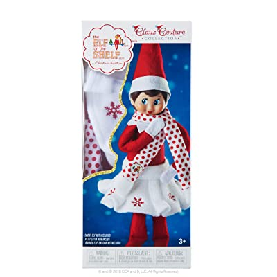The Elf on the Shelf Ccsnowsksc Snowflake Skirt & Scarf: Toys & Games