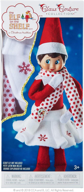 Amazon.es: Elf On The Shelf Muñeco Bufanda y Falda de Copo de ...