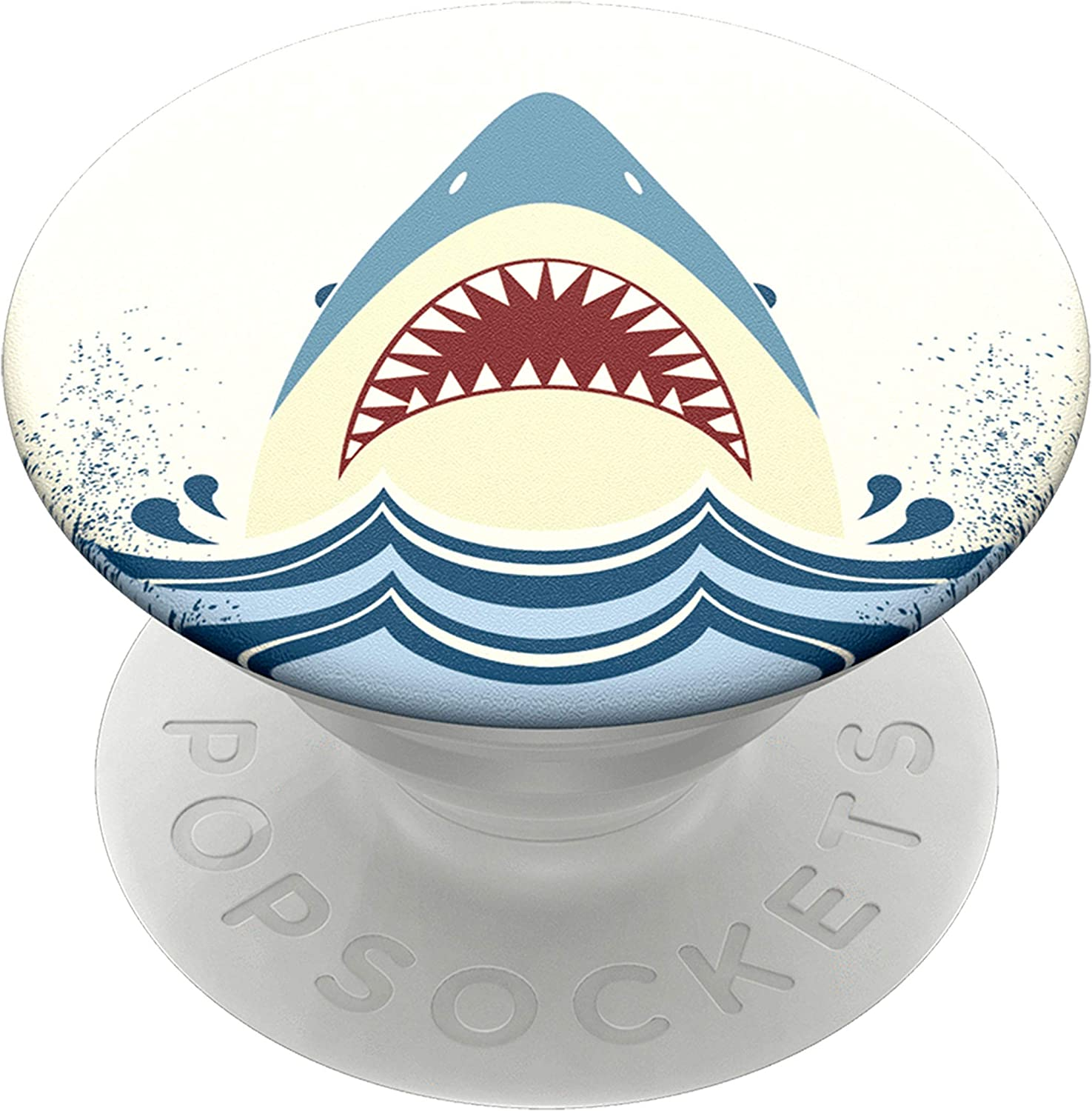 PopSockets PopGrip - Expanding Stand and Grip with Swappable Top - Shark Jump