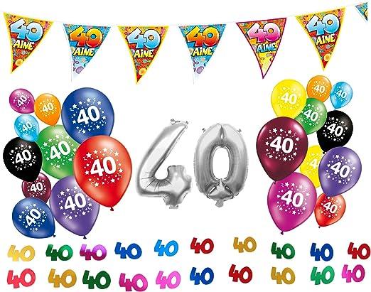 Pack de 40 cumpleaños decoraciones (en francés): Amazon.es: Hogar
