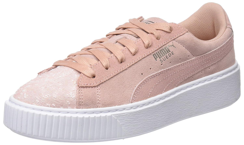 Puma Suede Platform Pebble Wn's, Zapatillas para Mujer 37 EU|Beige (Peach Beige-puma White)