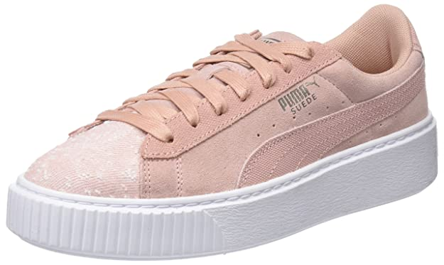Puma Damen Basket Platform EP WN's Sneaker, Weiß White White White, 38.5 EU