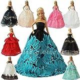 ZITA ELEMENT 5 pcs de ropa de fiesta de moda hecha a mano para Muñecas Barbie-Estilo aleatorio