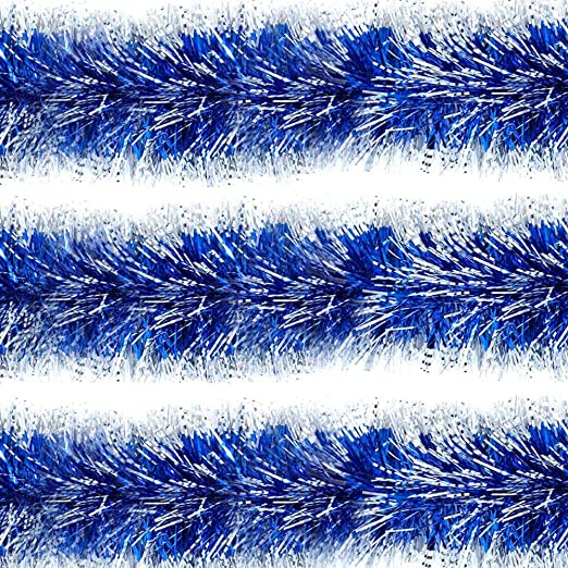 Tinsel Hanging Christmas Party Xmas Tree Ornaments Decorations 2m 6.5Ft 6 Colors