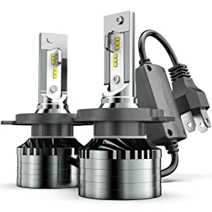 H4/9003/HB2 LED Headlight Bulbs Conversion Kit, Marsauto M2 Series Led Hi/Lo Beam Headlamp with Fan, CSP Chip CANbus-Ready IP67 12000LM 6000K Xenon White 2-Pack