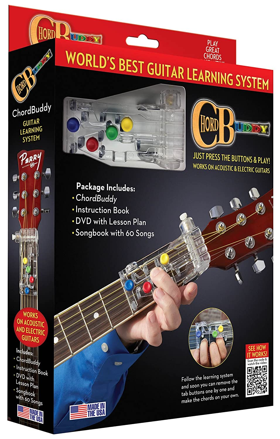Amazon Chordbuddy Chordbuddy Guitar Learning System And