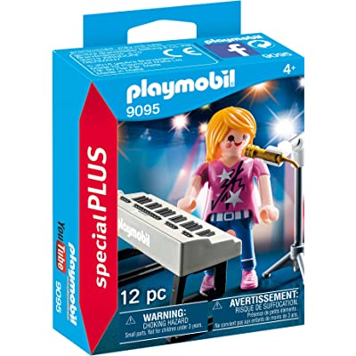PLAYMOBIL Singer with Keyboard Building Set: Toys & Games