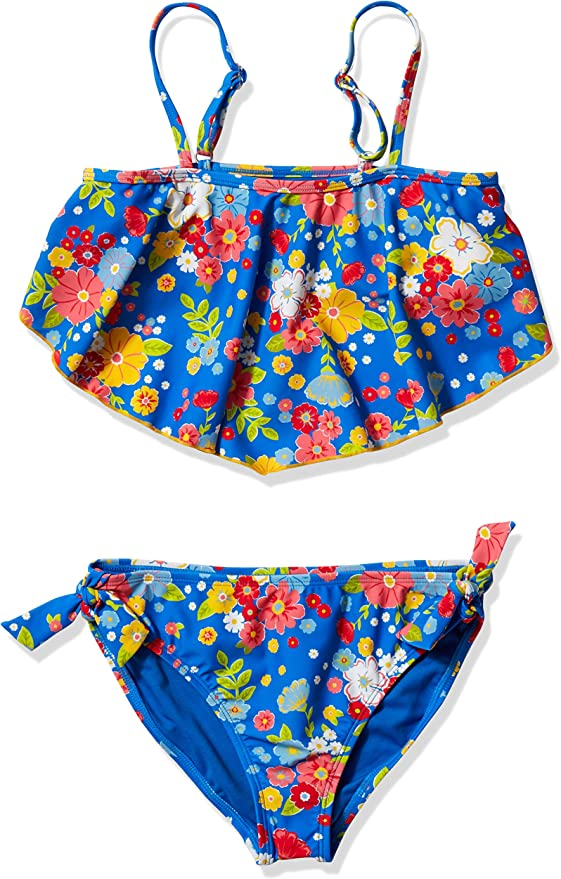 Angel Beach Girls Big Flounce One Piece Swimsuit