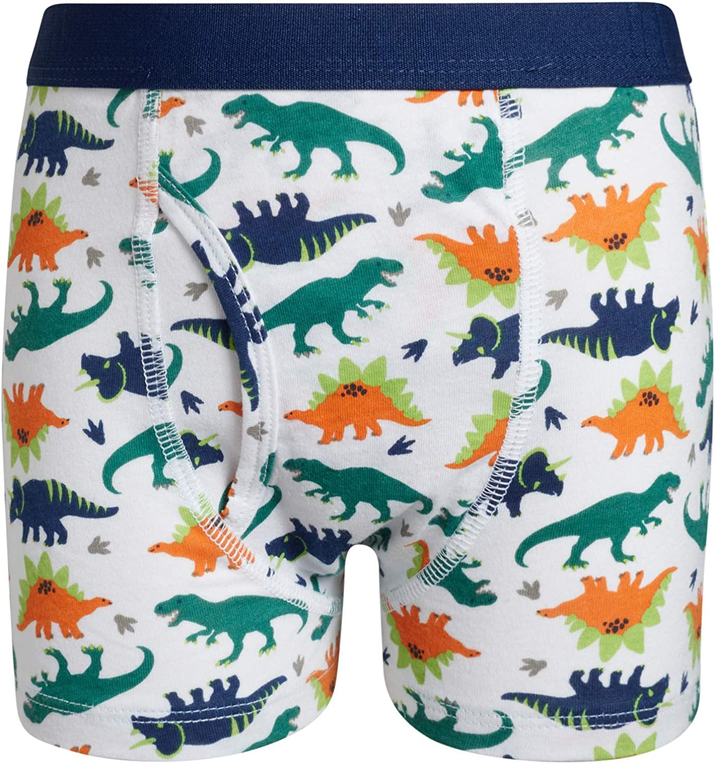 Toddler//Little//Big Boys Only Boys Cotton Boxer Brief Breathable Underwear with Printed Waistband 10 Pack