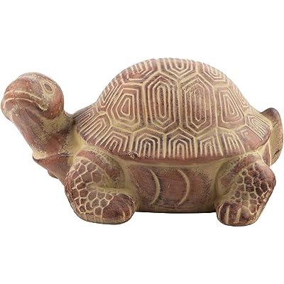 Home Essentials Terra Cotta Turtle Garden Figurine Statue, 12 x 6 : Garden & Outdoor
