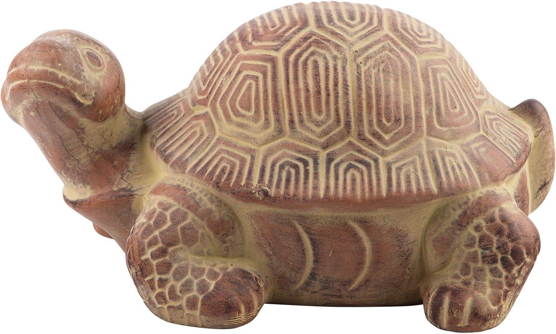Home Essentials Terra Cotta Turtle Garden Figurine Statue, 12 x 6