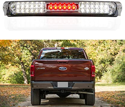 Third Brake Light LED 3rd Brake Light Rear Tail Brake Light Cargo Lamp Waterproof Smoke Lens Chrome Housing High Mount Brake Light Replacement fit for 1997-2003 Ford F-150 FO2890102 XL3Z13A613AA