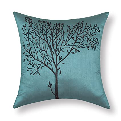 Famous Amazon.com: CaliTime Cushion Covers Pillows Shell Teal Ground  RP93
