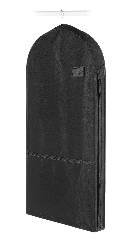 Whitmor 6309-5929-BLK Deluxe Garment Bag with Pocket, Black