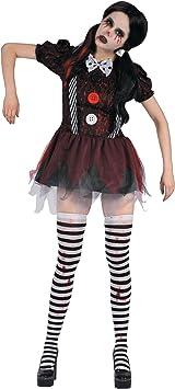 Generique - Disfraz de muñeca terrorífica Mujer M: Amazon.es ...