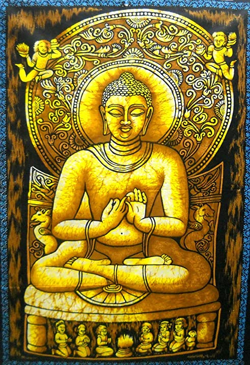 Amazon.com: Preaching Lord Buddha Batik Wall Tapestry 40\