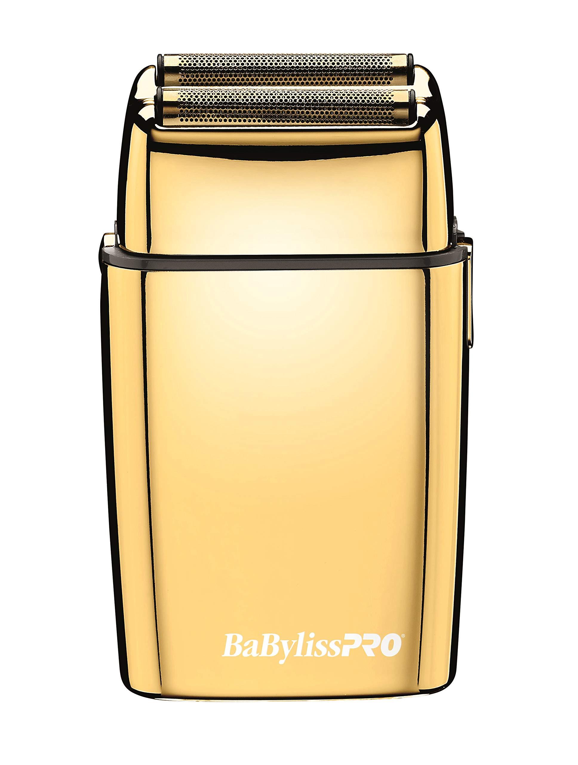 BaBylissPRO Foilfx02 Cordless Metal Gold Foil - 81fqnw0OghL - BaBylissPRO Double Foil Cordless Shaver, Metal