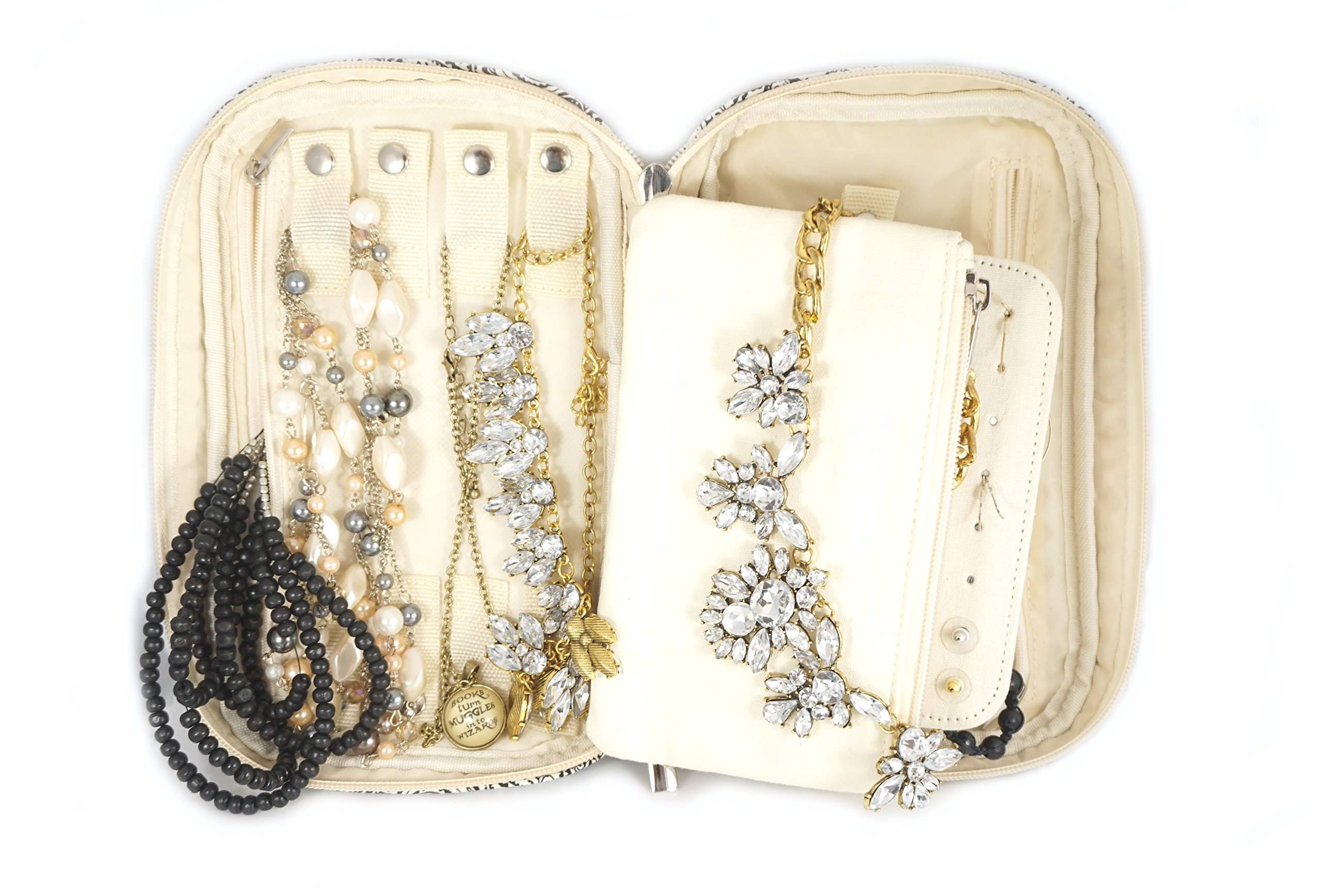 Jewelry & Accessories Travel Organizer Bag Case (Black) by Simple Accessories (Image #5)