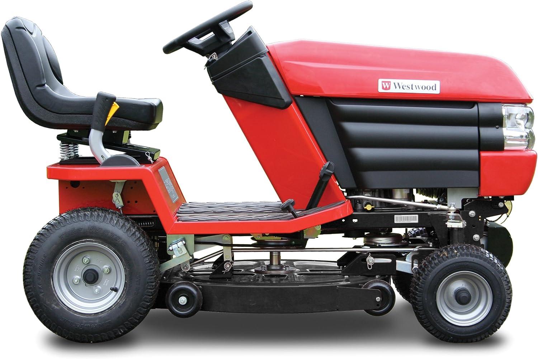 Westwood S150H Mini cortacésped de Tractor de jardín – Free 76 cm Combideck, 255 l Alimentado coleccionista de césped y Multiherramienta de fácil Agarre.