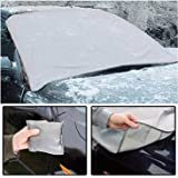Windscreen Cover Magnetic Car Windshield Protect from Sun, Ice, Frost & Snow All Weather Shield Screen Cover - 96 x 162cm / 38 x 64in - Comes with a Carry Pouch - By Guilty Gadgets