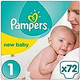 Pampers Premium Protection New Baby Windeln Gr. 1 Newborn (2-5 kg), Halbmonatsbox, 1er Pack (1 x 72 Stück)