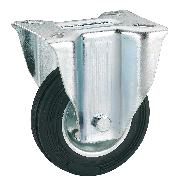 Polyamid-Bockrolle mit Gleitlager 100 x 35 mm//Platte 100 x 85 mm