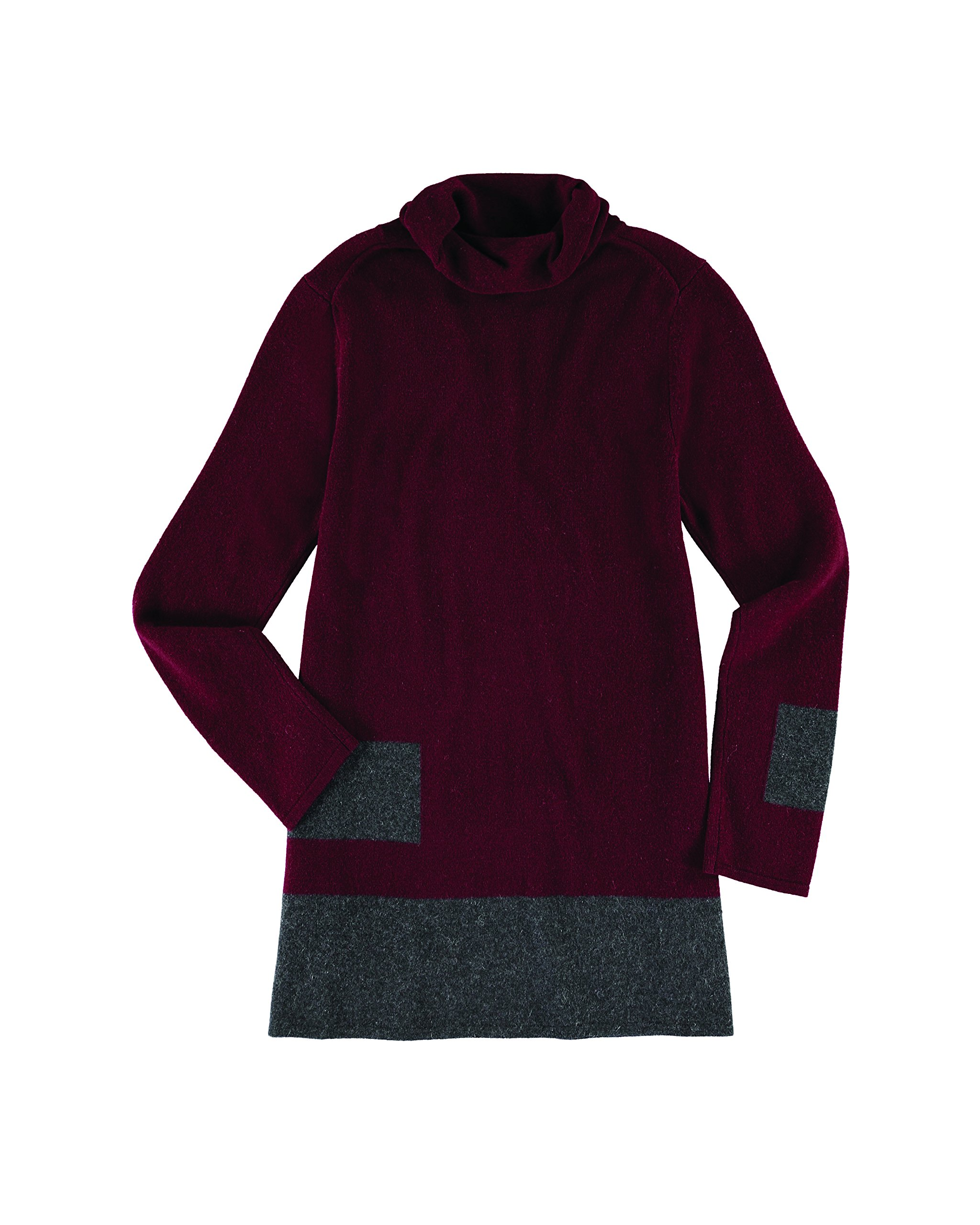 Krimson Klover Stacks Cashmere Tunic - ( Bordeaux, X-Small )