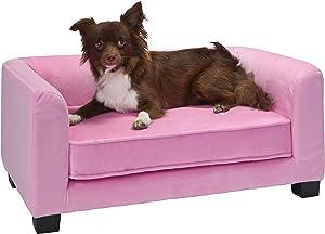 Enchanted Home Pet Surrey Pet Sofa - Pink, Small (CO3429-20PNK)