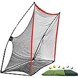 WhiteFang Golf Net Bundle Golf Practice Net 10x7 feet with Golf Chipping Nets Golf Hitting Mat & Golf Balls Packed in Carry B