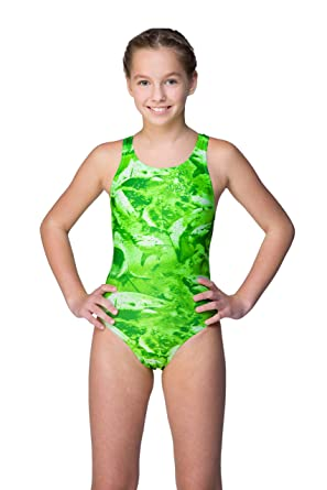 c008a44808 Maru Swimsuit for Girls UV Jaws Sparkle Auto Back Swimming Costume Swimwear  (26in)