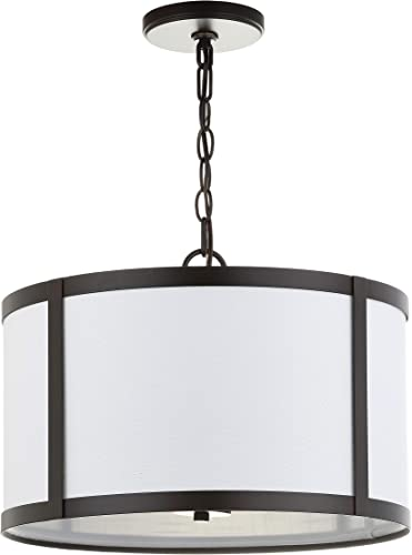 JONATHAN Y JYL3510A Thatcher 17 Metal LED Pendant Light, Traditional, Transitional for Kitchen, Living Room, Oil Rubbed Bronze