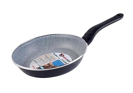 Magefesa Dolomiti Sartén 26 cm de Acero esmaltado, Antiadherente Multicapa Efecto Piedra, Color Gris Exterior. Apto para Todo Tipo de cocinas, ...