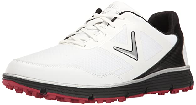 Callaway Men's Balboa Vent Golf Shoe, White/Black, 8 D US