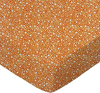 product image for SheetWorld Fitted 100% Cotton Percale Cradle Sheet 18 x 36, Confetti Dots Orange, Made in USA